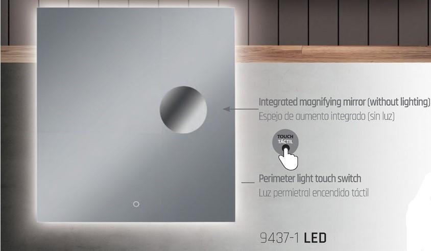 Acb olivia 16 9437 applique specchio con illuminazione led integrata